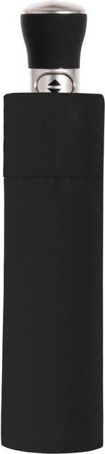 doppler MANUFAKTUR Taschenregenschirm »Oxford Uni, schwarz«, handgemachter Manufaktur-Taschenschirm | Accessoires > Regenschirme > Taschenschirme | doppler MANUFAKTUR
