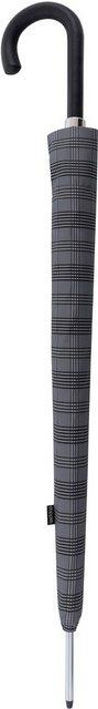doppler MANUFAKTUR Stockregenschirm »Orion, karo grau«, handgemachter Manufaktur-Stockschirm | Accessoires > Regenschirme > Stockschirme | doppler MANUFAKTUR