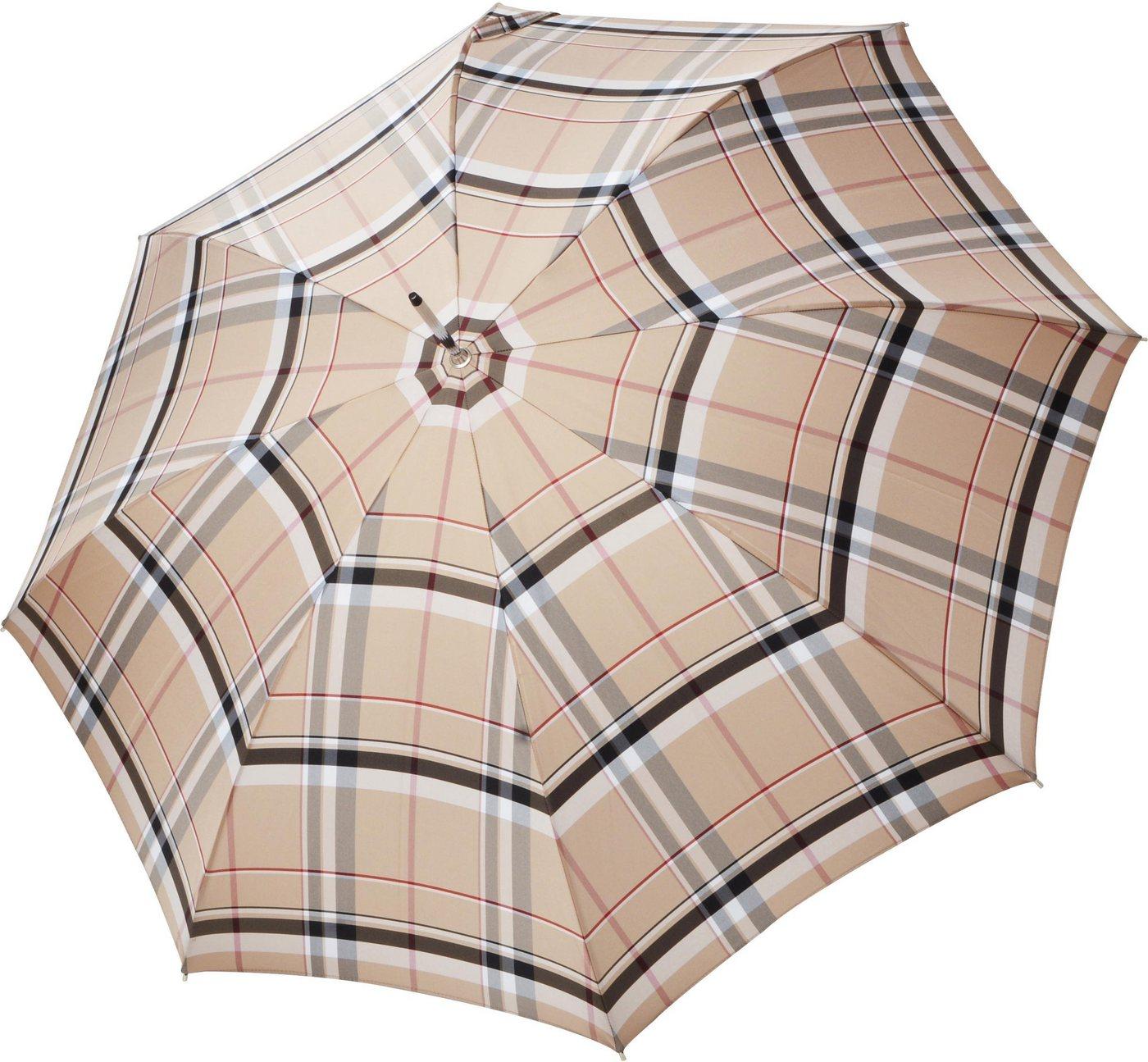 Regenschirme - doppler MANUFAKTUR Stockregenschirm »Serge, karo«, handgemachter Manufaktur Stockschirm ›  - Onlineshop OTTO