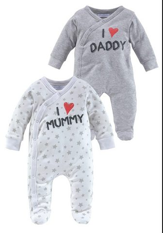 KLITZEKLEIN Пижама »I love Mummy / I love Da...