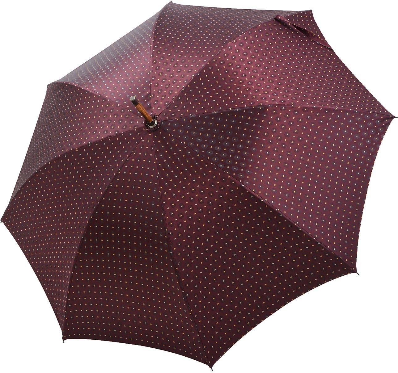 Regenschirme - doppler MANUFAKTUR Stockregenschirm »Cottage, kastanie bordeaux«, handgemachter Manufaktur Stockschirm ›  - Onlineshop OTTO