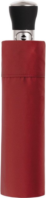 doppler MANUFAKTUR Taschenregenschirm »Oxford Uni, rot«, handgemachter Manufaktur-Taschenschirm | Accessoires > Regenschirme > Taschenschirme | doppler MANUFAKTUR
