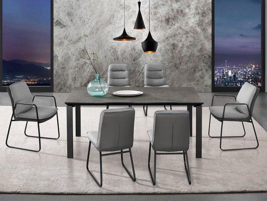 Places of Style Esszimmerstuhl »Vancouver« 2er-Set in modernem Design. Zwei Bezugsqualitäten  Sitz und Rücken gepolstert
