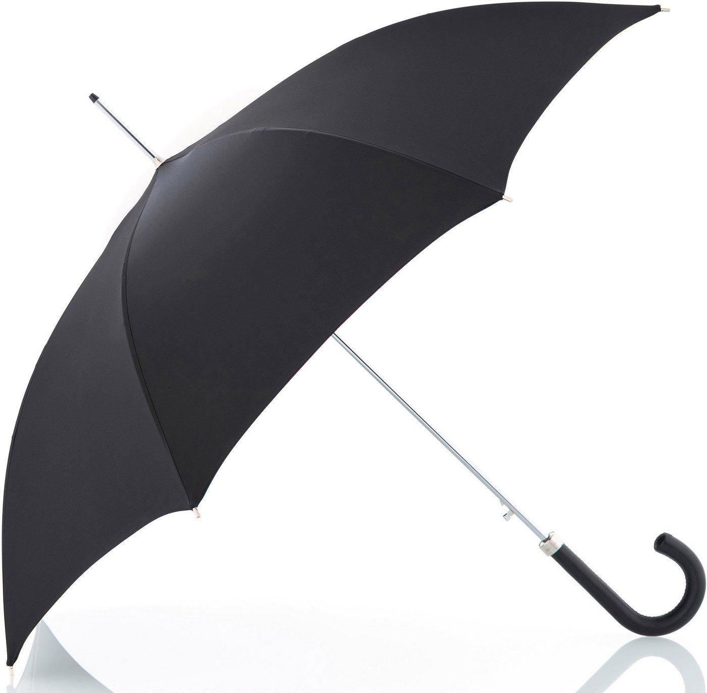 Regenschirme - doppler MANUFAKTUR Stockregenschirm »Oxford Uni, schwarz«, handgemachter Manufaktur Stockschirm ›  - Onlineshop OTTO