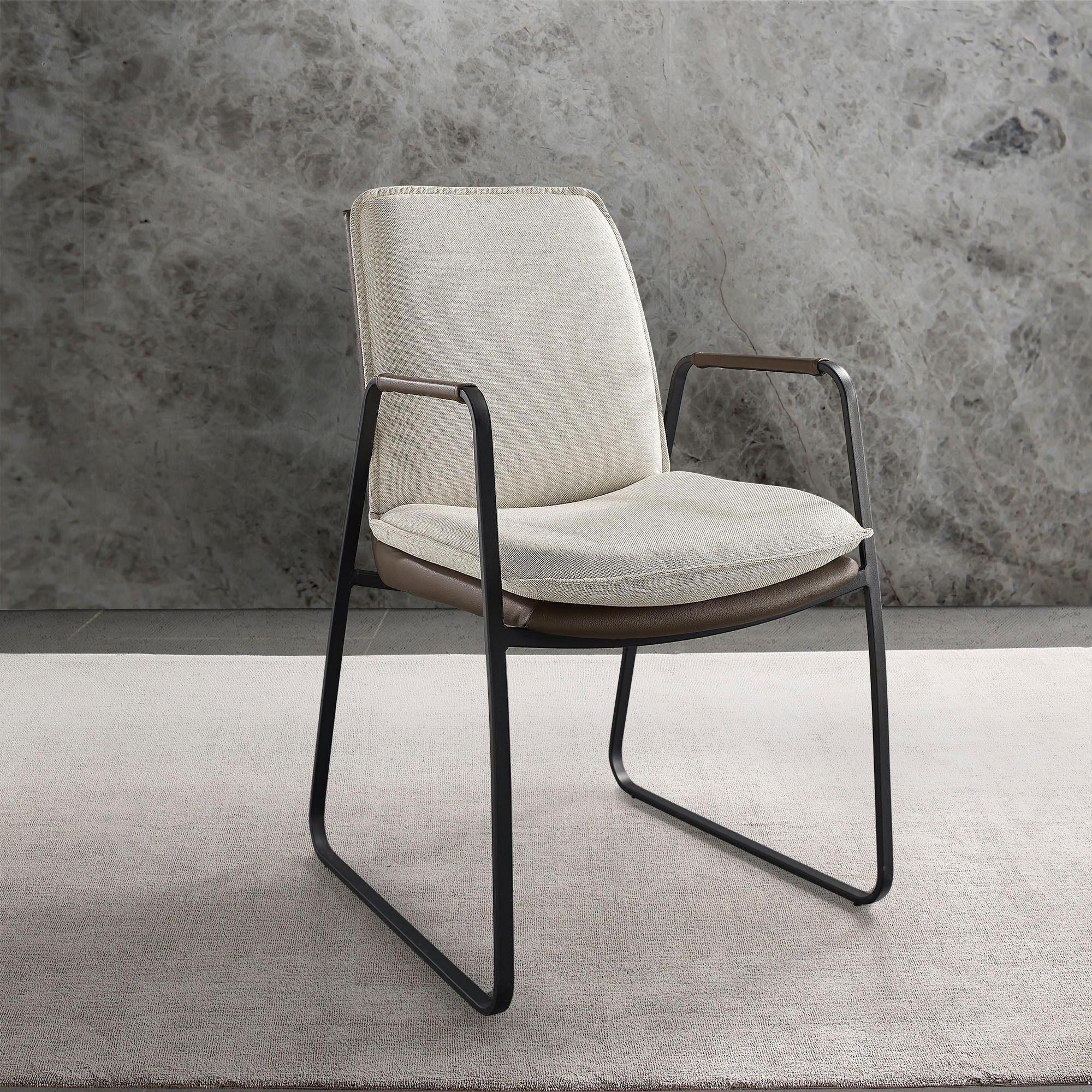 Places of Style Esszimmerstuhl »Vancouver« 2er Set in modernem Design. Zwei Bezugsqualitäten, Sitz und Rücken gepolstert online kaufen   OTTO
