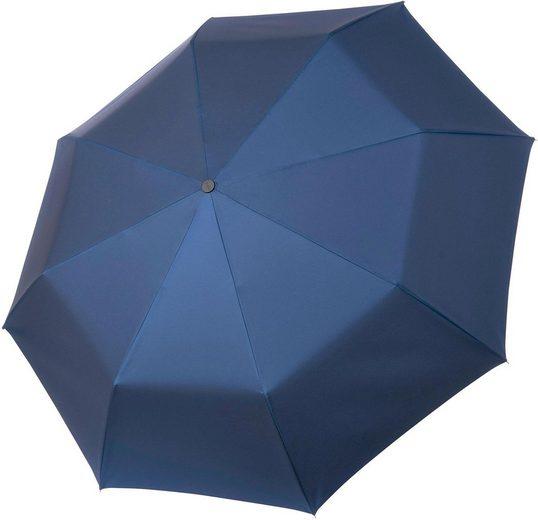 SYDERF Taschenregenschirm »Oxford Uni, blau«, handgemachter Manufaktur-Taschenschirm