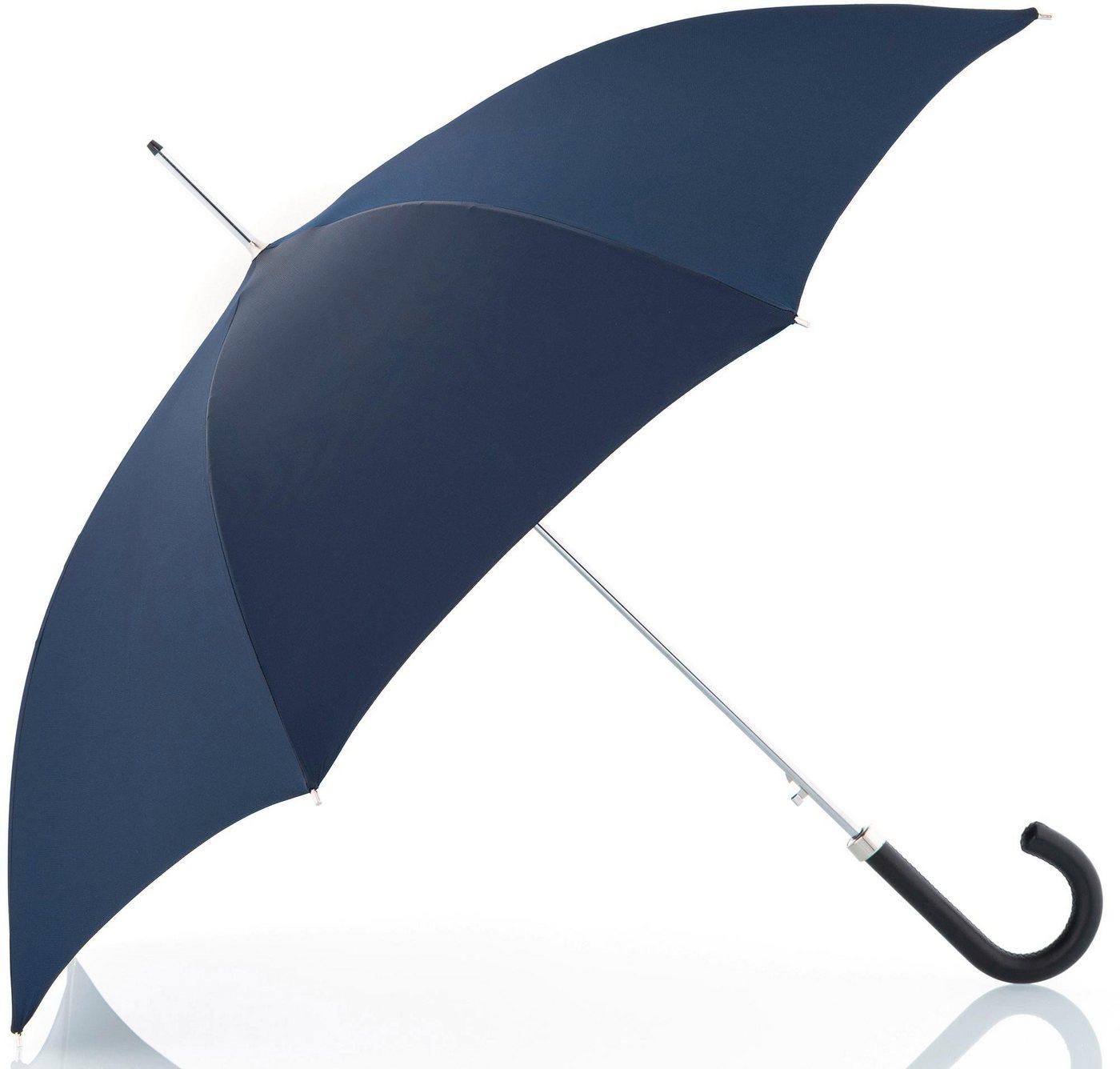 Regenschirme - doppler MANUFAKTUR Stockregenschirm »Oxford Uni, blau«, handgemachter Manufaktur Stockschirm ›  - Onlineshop OTTO