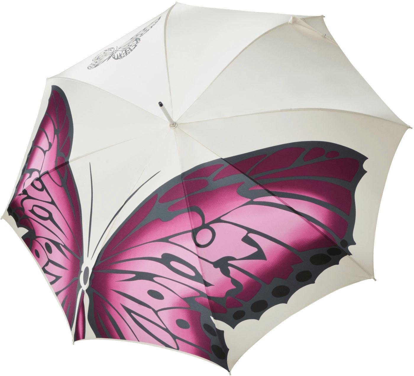 Regenschirme - doppler MANUFAKTUR Stockregenschirm »Noblesse, butterfly«, handgemachter Manufaktur Stockschirm ›  - Onlineshop OTTO