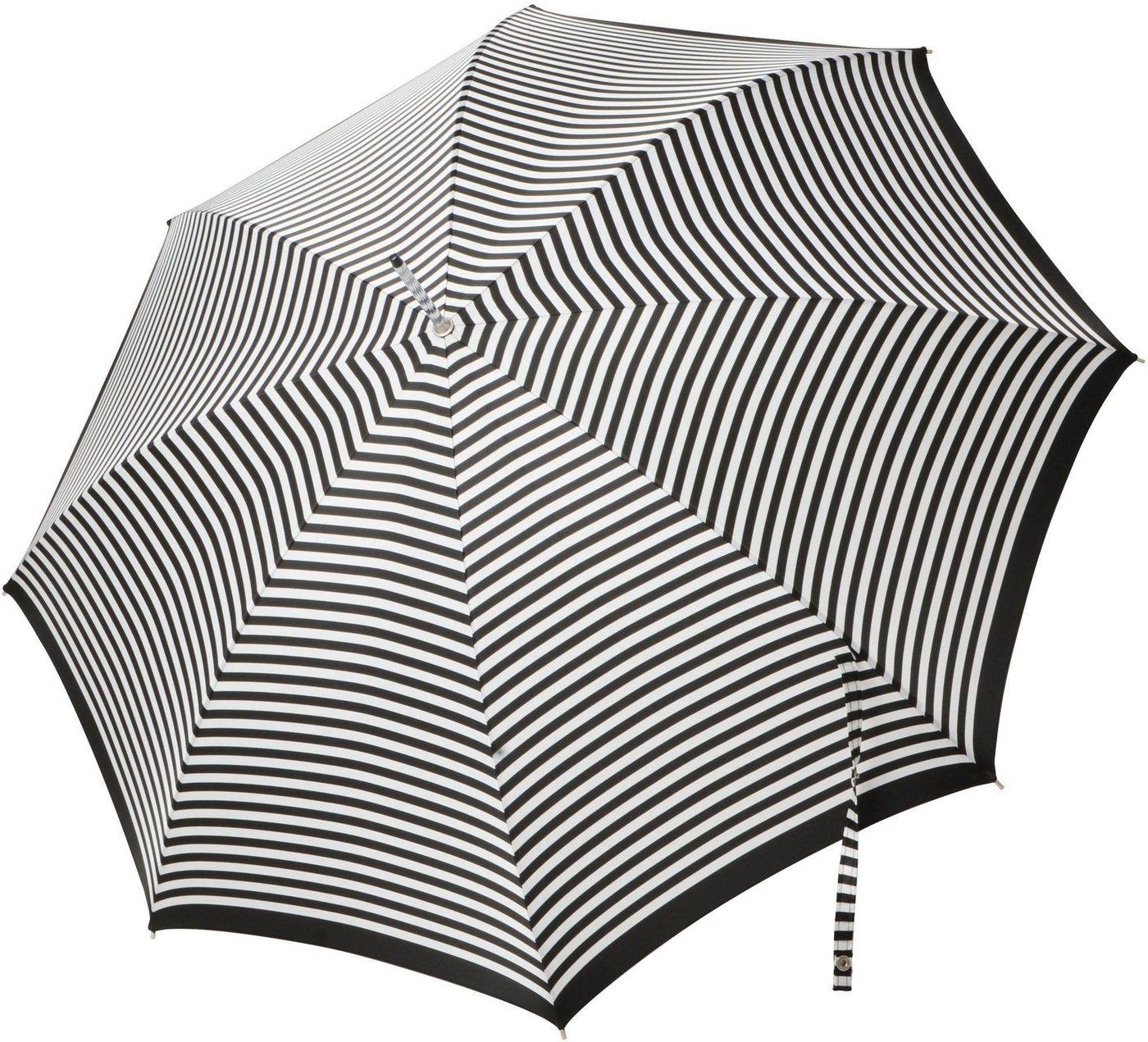 Regenschirme - doppler MANUFAKTUR Stockregenschirm »Serge, streifen«, handgemachter Manufaktur Stockschirm ›  - Onlineshop OTTO