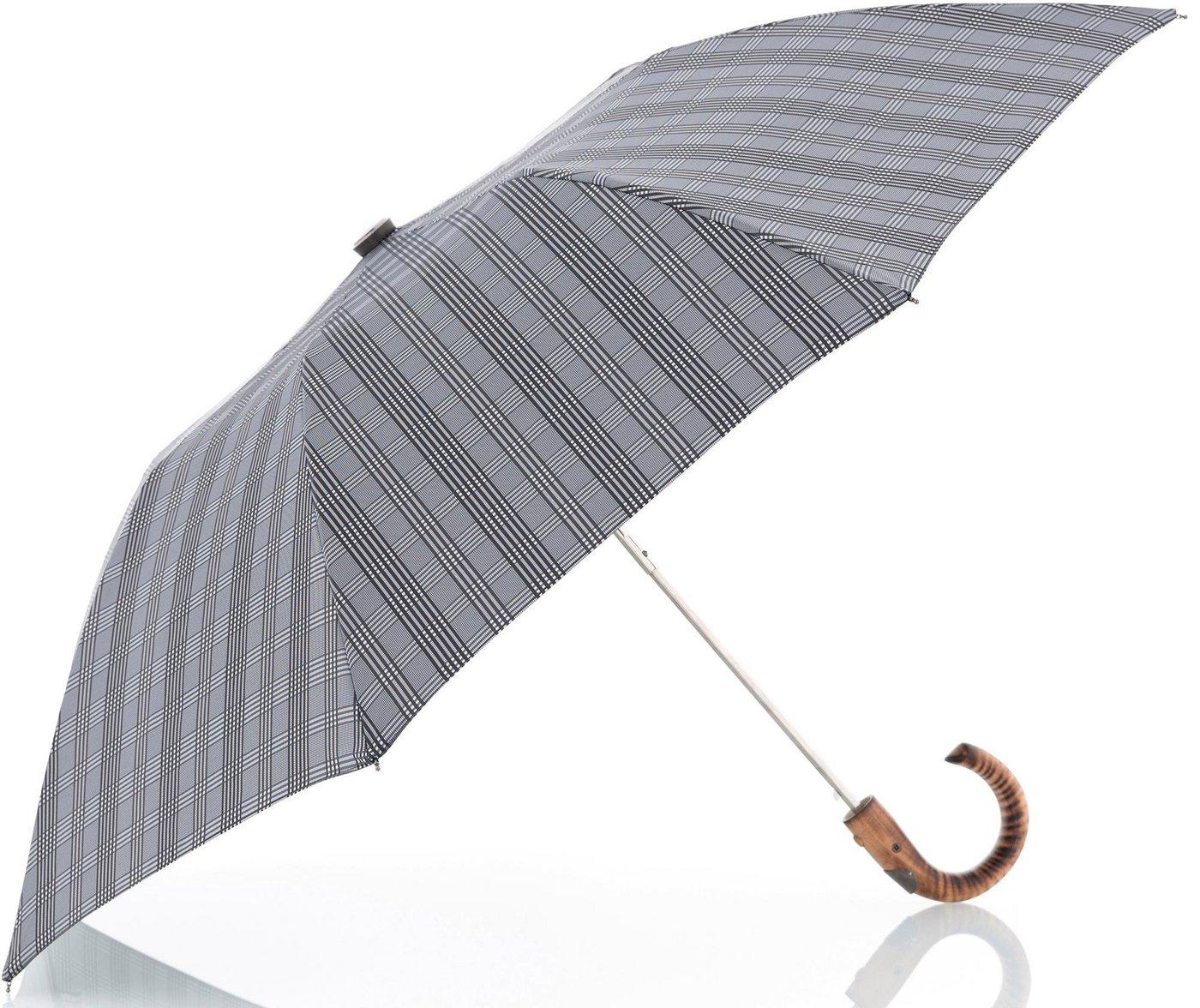 Regenschirme - doppler MANUFAKTUR Taschenregenschirm »Rancher Orion, karo grau«, handgemachter Manufaktur Taschenschirm ›  - Onlineshop OTTO