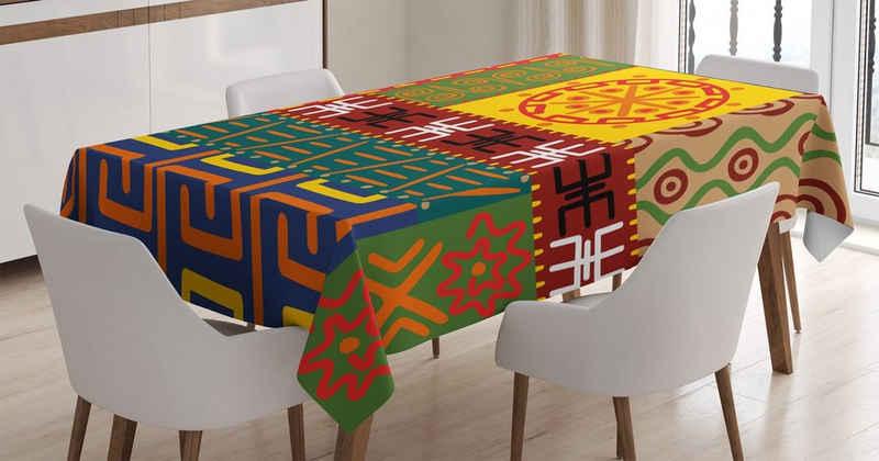 Abakuhaus Tischdecke »Personalisiert Farbfest Waschbar Für den Außen Bereich geeignet Klare Farben«, Stammes Primitive Tribal
