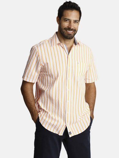 Schlussverkauf Jan Vanderstorm Streifenhemd »DEACON« luftiges Sommerhemd