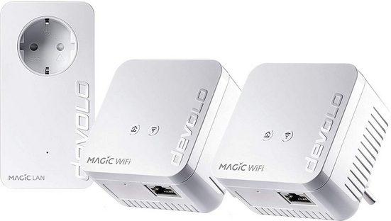 DEVOLO »Magic 1 WiFi mini Multiroom Kit« WLAN-Router, (1200Mbit,Powerline + WLAN,Mesh)