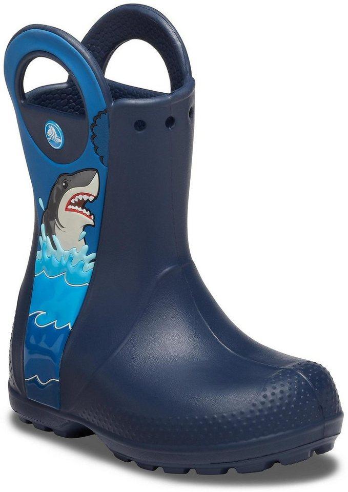 Crocs »Shark Rain Boot« Gummistiefel mit rutschhemmender Profillaufsohle