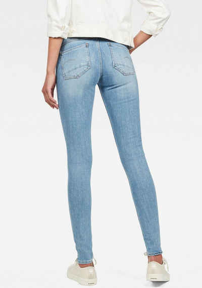 G Star RAW Skinny fit Jeans »Lynn Mid Super Skinny« in coolen Used Waschungen