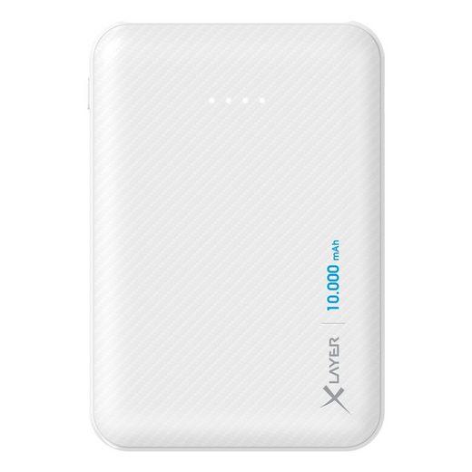 XLAYER Zusatzakku »Powerbank Micro Carbon White 10000mAh Smartphones/«