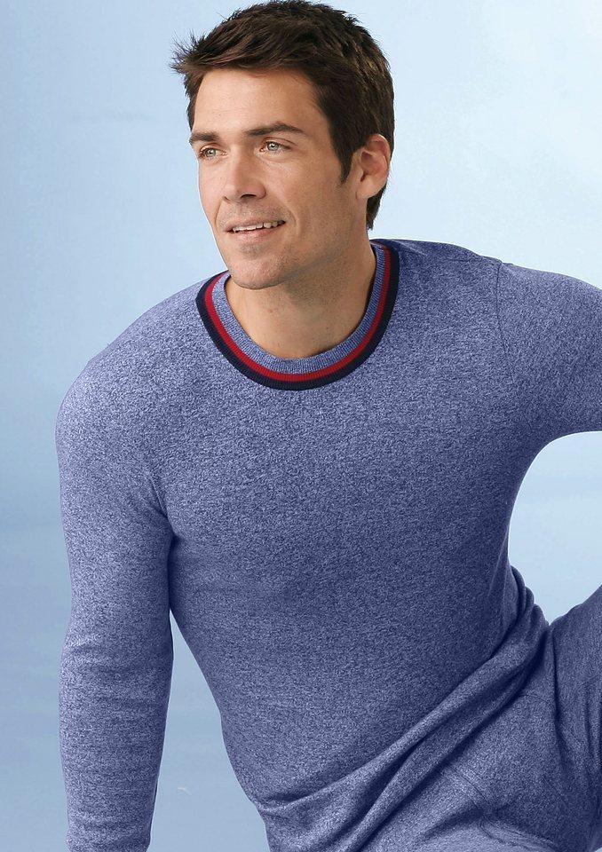 Langarm-Unterhemd (2 Stck.) in jeansblau