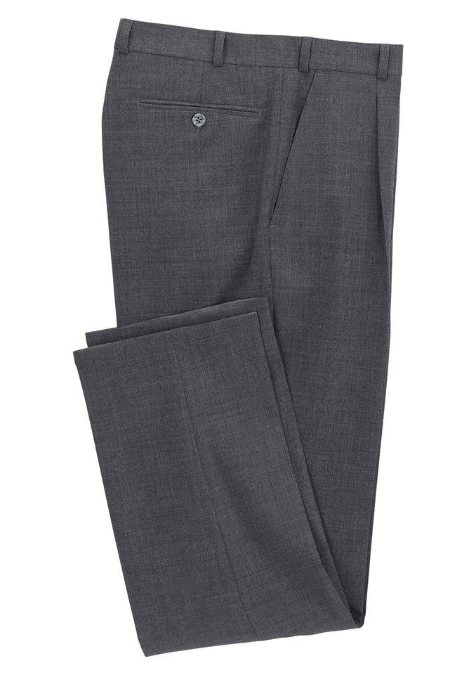 Classic Bundfalten-Hose mit elastischem Komfortbund in silbergrau-meliert