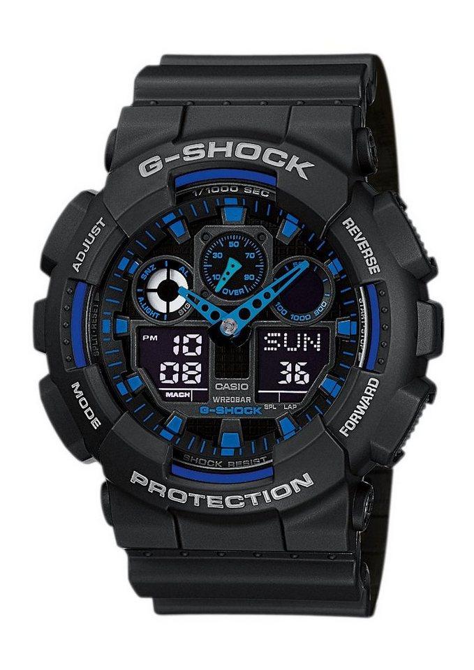 Casio G-Shock Chronograph »GA-100-1A2ER« in schwarz