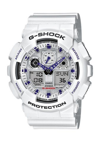 Casio G-Shock Chronograph »GA-100A-7AER« in weiß