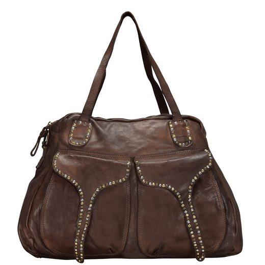 Campomaggi London Handtasche Leder 33 cm