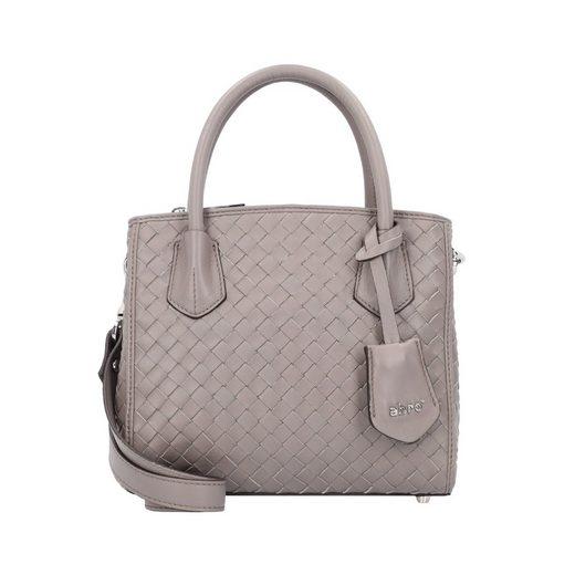 Abro Piuma Woven Handtasche Leder 22 cm