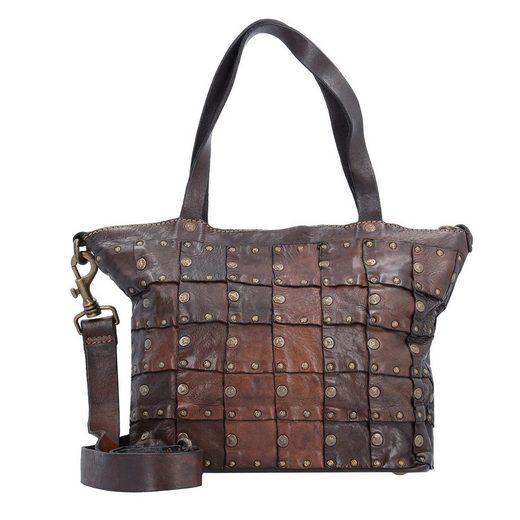 Campomaggi Rivetti Vacch Handtasche Leder 26 cm