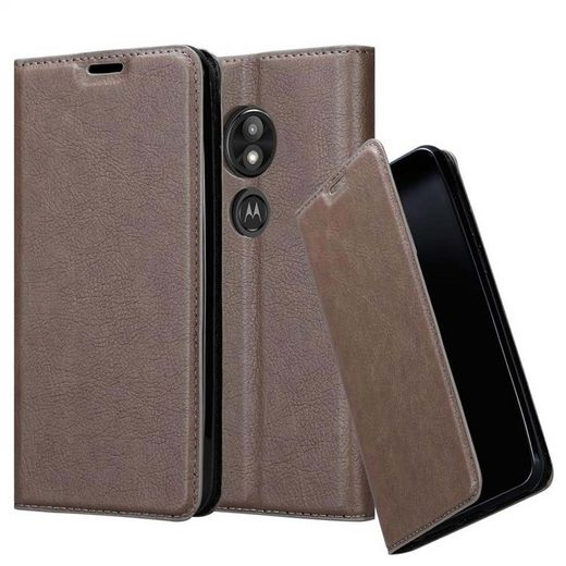 Cadorabo Handyhülle »Hülle case cover für« Motorola MOTO E5 PLAY, Magnetverschluss, Standfunktion und Kartenfach, Kunstleder, Klapphülle