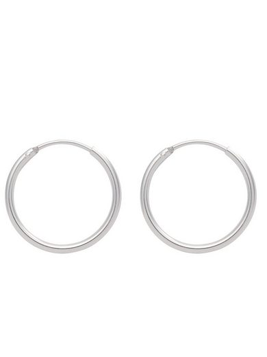 Adelia´s Paar Creolen »Silber 925 Sterling Silver Ohrringe - Creolen«, 925 Sterling Silber Ø 1.1 cm