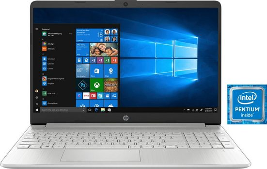 HP 15s-fq0214ng Notebook (39,6 cm/15,6 Zoll, Intel Pentium Gold, UHD Graphics 610, 512 GB SSD)