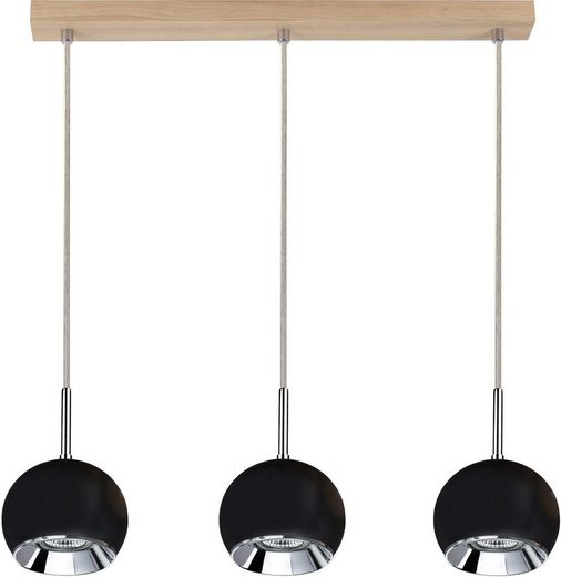 SPOT Light Pendelleuchte »Ball Wood Pendelleuchte incl. 3xGU10 LED 5W«, 3-flammig, Made in EU