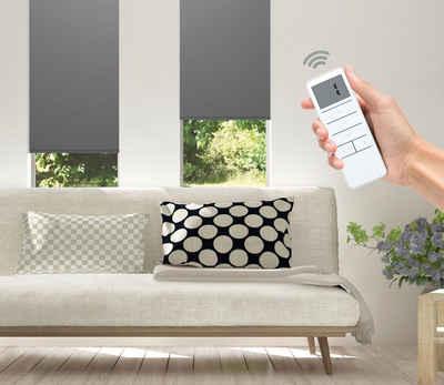 Elektrisches Rollo »Vau - SMART HOME«, Good Life, Lichtschutz, ohne Bohren,  mit Fernbedienung