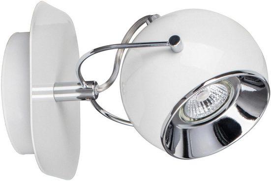 SPOT Light Wandleuchte »BALL«, LED Leuchtmittel Inklusive, wechselbar, schwenkbarer und flexibler Retrostrahler