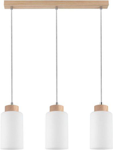 SPOT Light Pendelleuchte »BOSCO«, Hängeleuchte, Naturprodukt aus Eichenholz, Nachhaltig mit FSC®-Zertifikat, Hochwertiger Schirm aus Glas, Made in EU