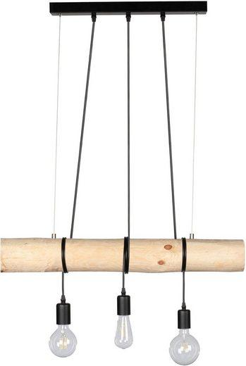 SPOT Light Pendelleuchte »TRABO«, Hängeleuchte, mit Massivholzbalken Ø 8-12 cm, Naturprodukt mit FSC®-zertifikat, Kürzbar, passende LM E27, Made in Europe