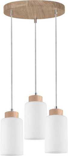 SPOT Light Deckenleuchte »Bosco Wood Deckenrondell 3xE27 60W«, 3-flammig, Made in EU