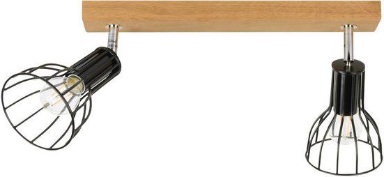SPOT Light Deckenleuchte »Megan Wood Deckenleuchte 2xE14 40W«, 2-flammig, Made in EU