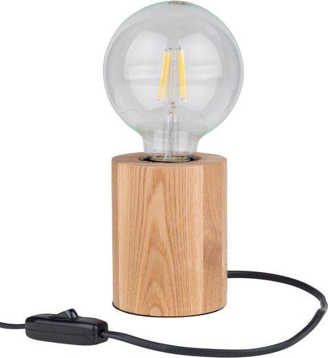 BRITOP LIGHTING Tischleuchte »MINNIE«, Naturprodukt aus Eicheholz massiv, Nachhaltig - FSC®-zertifiziert, Made in EU, passendes LM E27