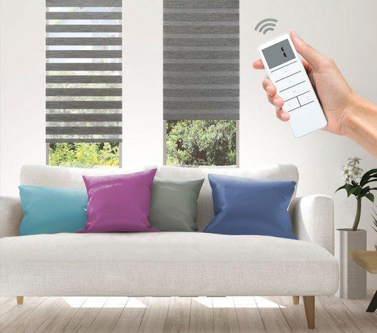 Elektrisches Rollo »Wood - SMART HOME«, Good Life, Lichtschutz, ohne Bohren, mit Fernbedienung