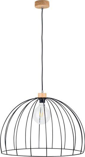 BRITOP LIGHTING Pendelleuchte »COOP«, Hängeleuchte, Trendige Leuchte aus Metall und Eichenholz mit FSC®-Zertifikat, Passende LM E27, Kabel kürzbar, Made in EU