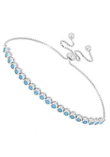 Firetti Tennisarmband »modisch und zeitlos zugleich, rhodiniert, hochglanzpoliert«, mit synth. Steinen