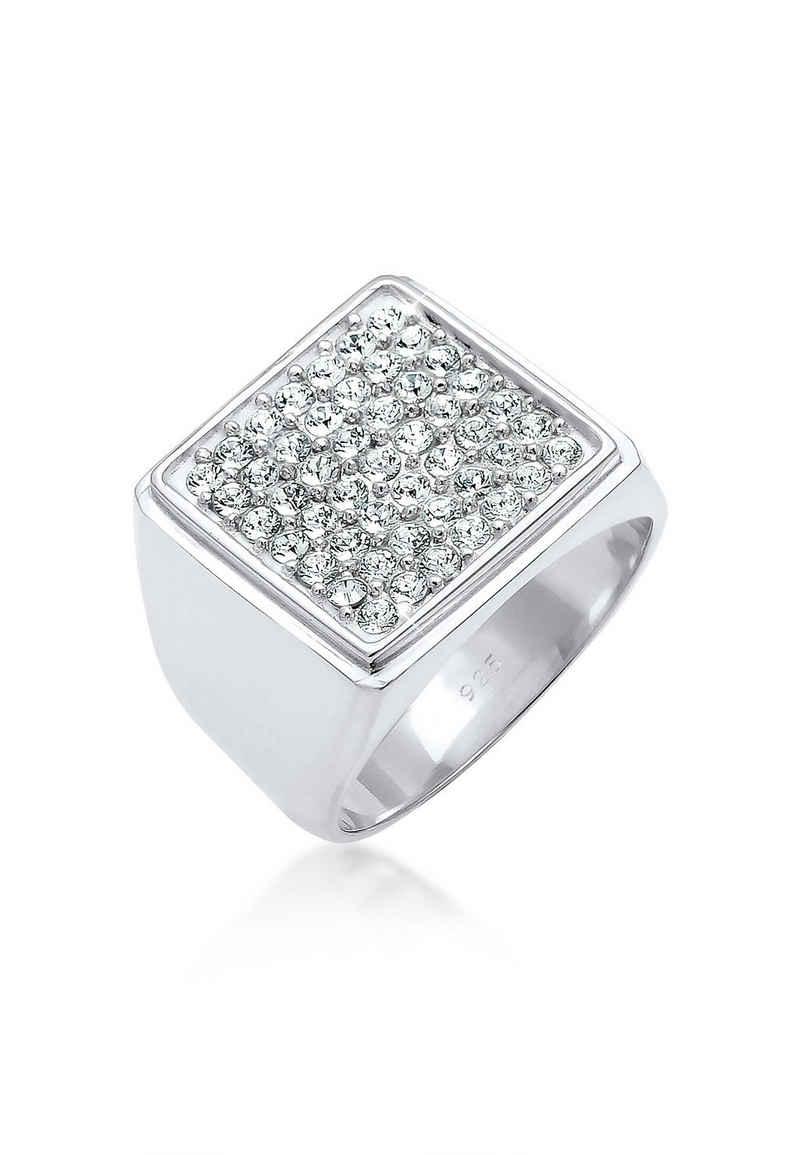 Elli Siegelring »Siegelring Geo Kristalle 925 Silber«
