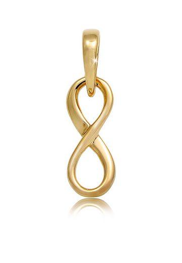 Elli Kettenanhänger »Infinity Unendlichkeits-Symbol Edel 585 Gelbgold«