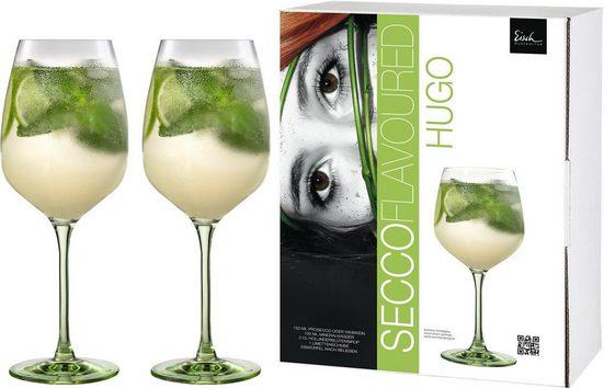 Eisch Weinglas »Secco Flavoured« (2-tlg), (Hugo-Glas), bleifreies Kristallglas, 640 ml