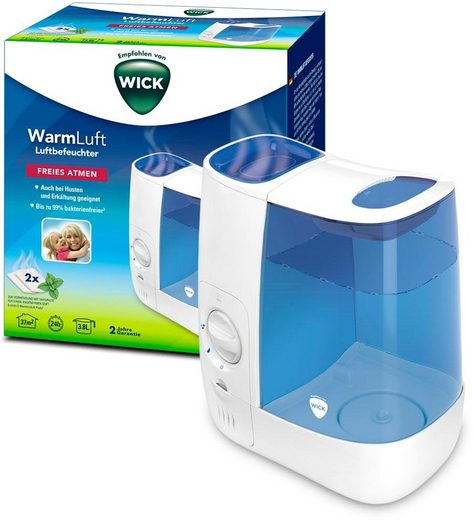 WICK Luftbefeuchter WH845 Warmluft-Befeuchter, 3,8 l Wassertank, bis zu 99 % bakterienfreie Feuchtigkeit