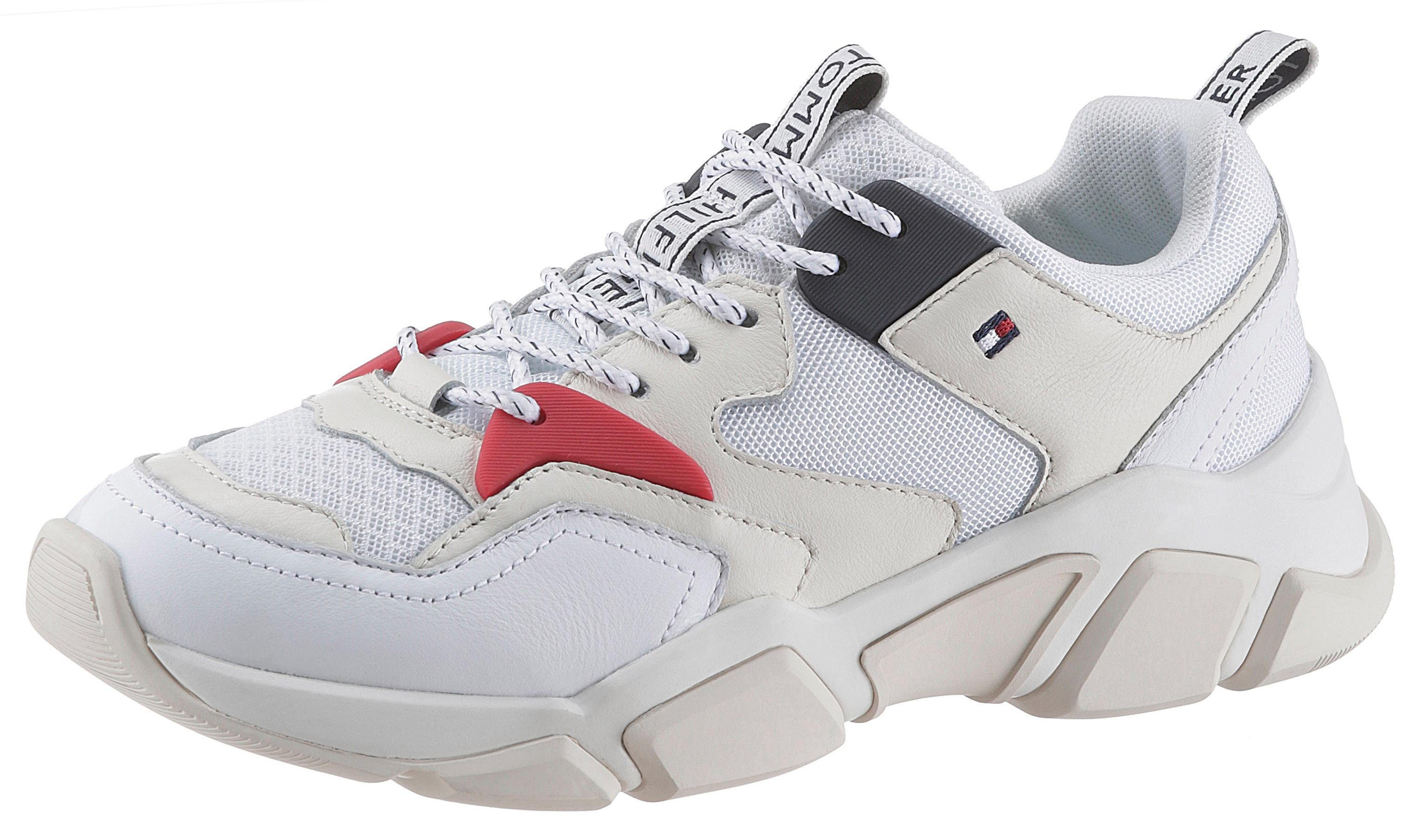 TOMMY HILFIGER »WMN CHUNKY MIXED TEXTILE TRAINER« Keilsneaker mit praktischer Anziehlasche online kaufen | OTTO