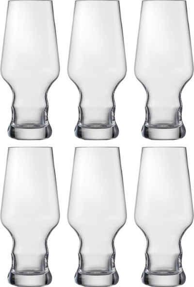 Eisch Bierglas »Craft Beer Becher«, Kristallglas, bleifrei, 450 ml, 6-teilig