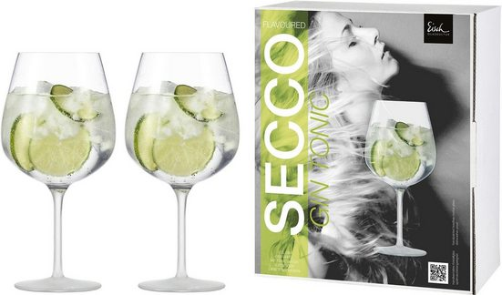 Eisch Weinglas »Secco Flavoured« (2-tlg), (Gin Tonic Glas), bleifreies Kristallglas, 735 ml