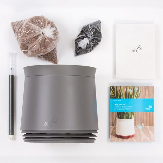 AIRY Pot,Luftreiniger Blumentopf,1600ml27cm hoch graubraun
