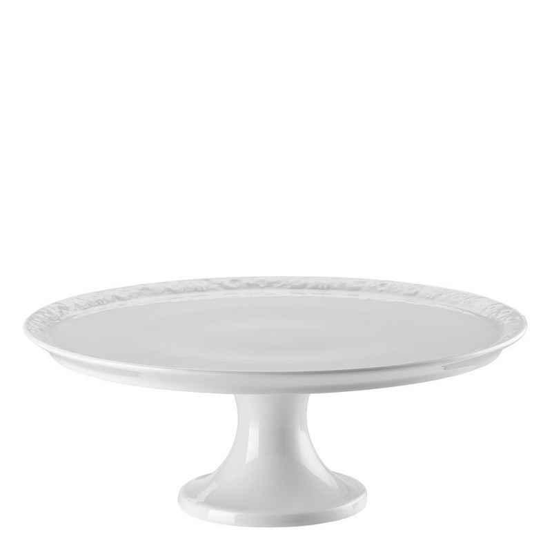 Rosenthal Tortenplatte »Maria Weiß Tortenplatte auf Fuß groß 31,5 cm«, Porzellan